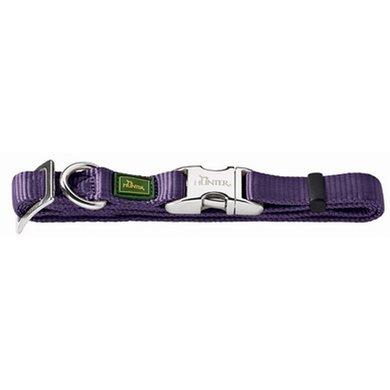 Hunter Klikhalsband Alu Nylon Soft Paars 45-65x2.5cm