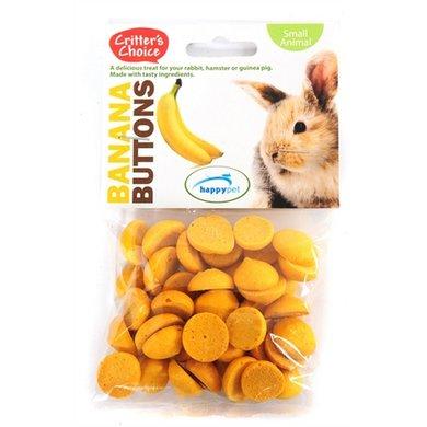 Critters Choice Banana Buttons 40gr 6st