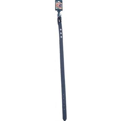 Halsband Vlecht Met Ster Bruin 20mm 60cm