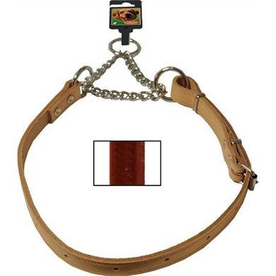 Kettingsliphalsband Verstelbaar Bruin 20mm 80cm
