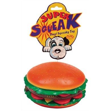 Petbrands Super Squeak - Hamburger 17x17x7,5cm