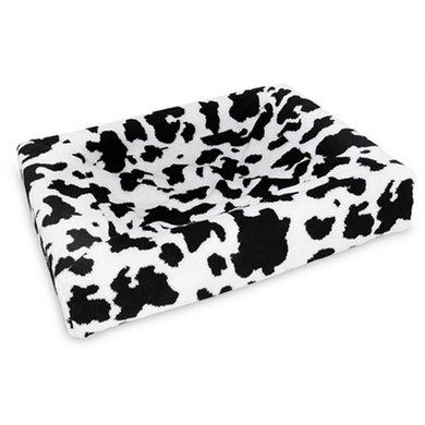 Bia Fleece Hoes Hondenmand Black/White 1 45x45x12cm