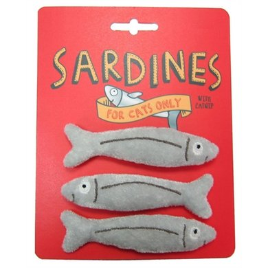 Happy Meow Catnip Speelgoed Sardines 10x2cm