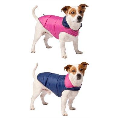 Adori Hondenjas Omkeerbaar Roze/Blauw 40cm