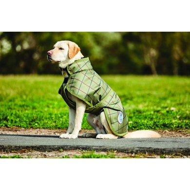 Weatherbeeta Parka Dog Coat Deluxe 1200D Olive Tweed Print