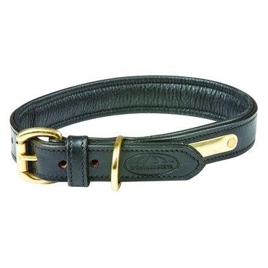 Weatherbeeta Dog Collar Padded Leather Black