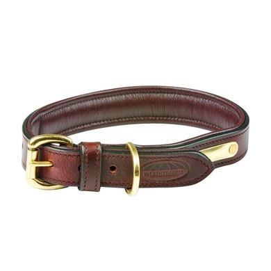 Weatherbeeta Dog Collar Padded Leather Brown
