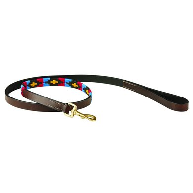 Weatherbeeta Dog Lead Polo Cowdray/Brown/Pink/Blue/Yellow M