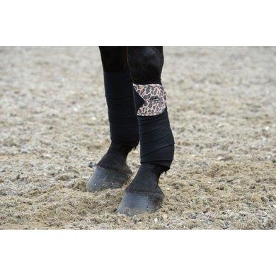 WB Bandages Leopard Fleece 4-pack Bruin Luipaard