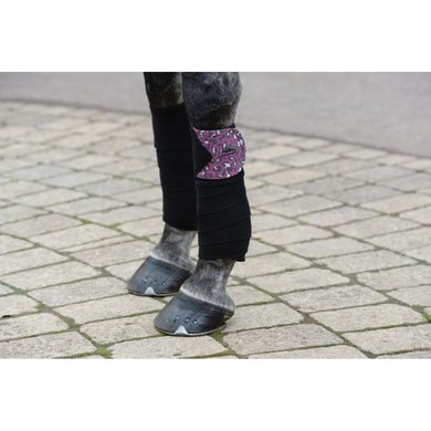WB Bandages Leopard Fleece 4-pack Roze Luipaard