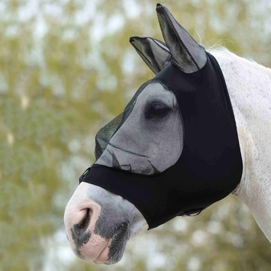 Weatherbeeta Fly Mask Strech Eye Saver with Ears Black/Black