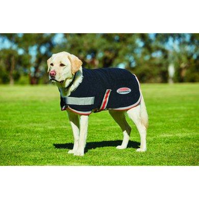 Weatherbeeta Dog Coat Therapy-Tec Fleece Black/Silver/Red