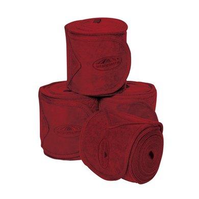 Weatherbeeta Fleece Bandages Prime 4 Stuks Maroon 3,5m