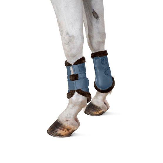 Eskadron MESH FAUXFUR Tendon Boots vintageblue Platinum 20