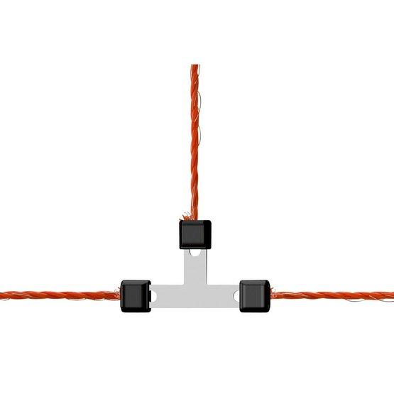 10 Stück Litzenverbinder AKO Litzclip® 3mm Edelstahl Weidezaun Verbinder